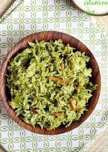 cilantro rice recipe | Indian coriander rice recipe