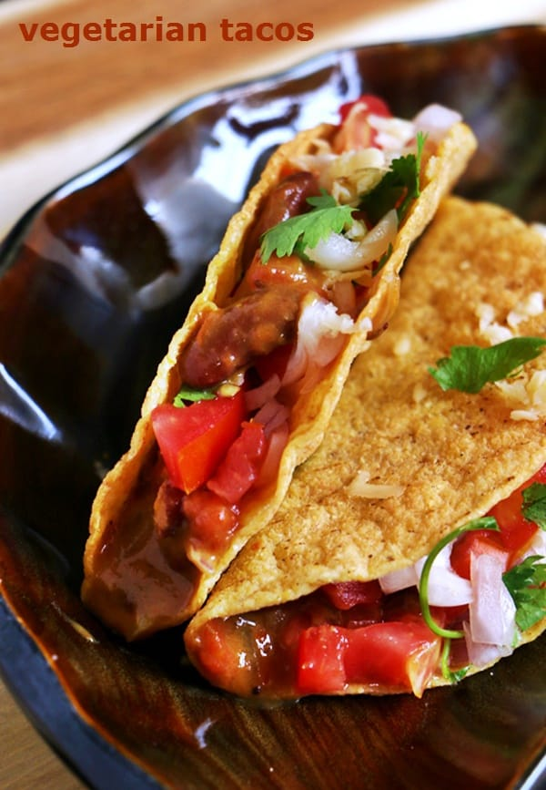 vegetarian tacos recipe, how to make vegetarian tacos