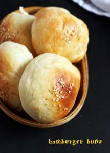 Hamburger buns recipe | Eggless burger buns recipe