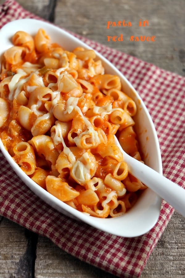 pasta in red sauce recipe c