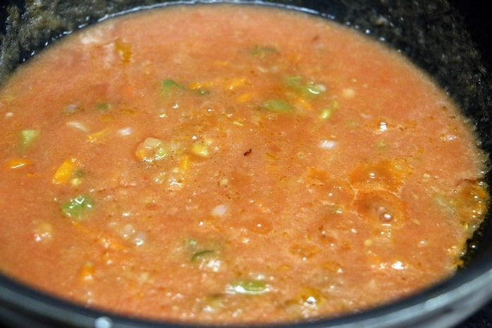 pasta in red sauce step 5