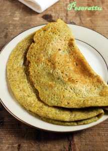 Peserattu recipe | Moong dal dosa recipe