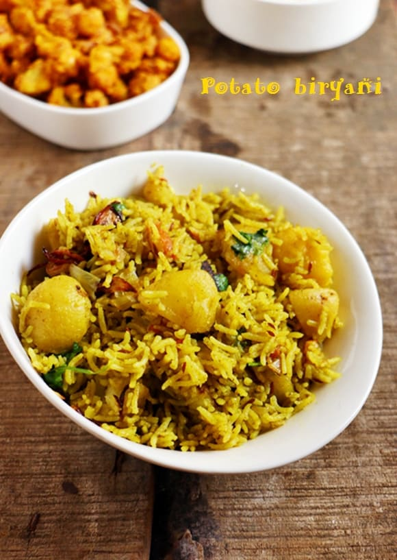 potato biryani recipe
