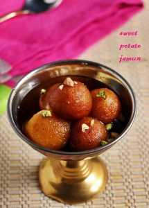 Sweet potato gulab jamun recipe   Vegan gulab jamun recipe