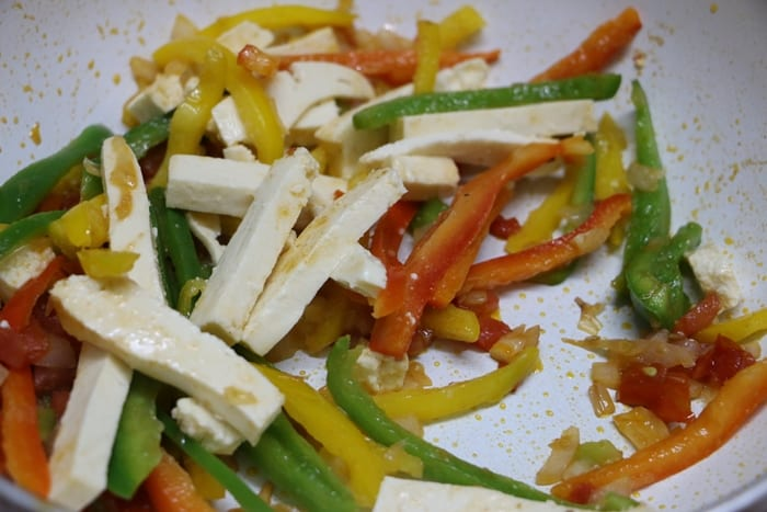 vegetarian fajita step 3