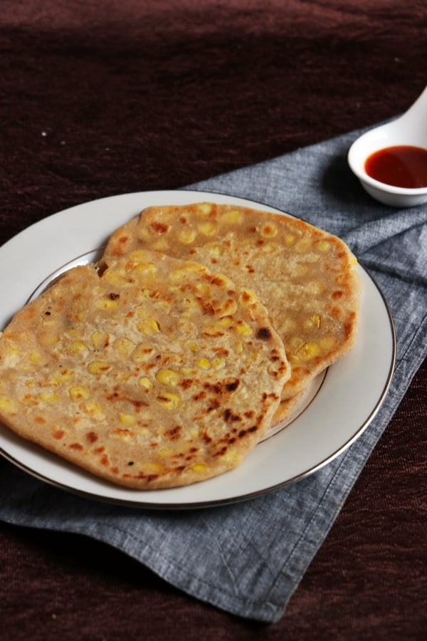 cheese corn paratha recipe d