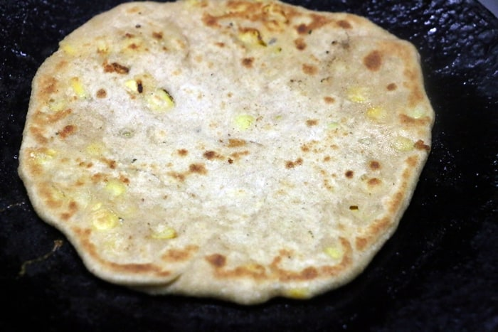 cheese corn paratha step 5
