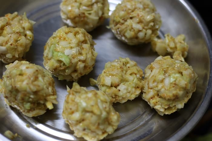 cabbage kofta step 2