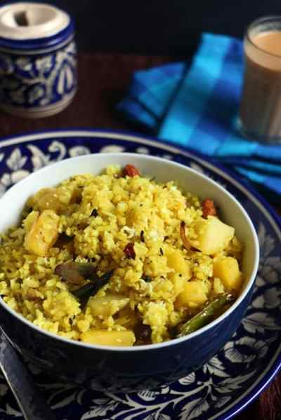 Kanda batata poha recipe | Easy breakfast recipes