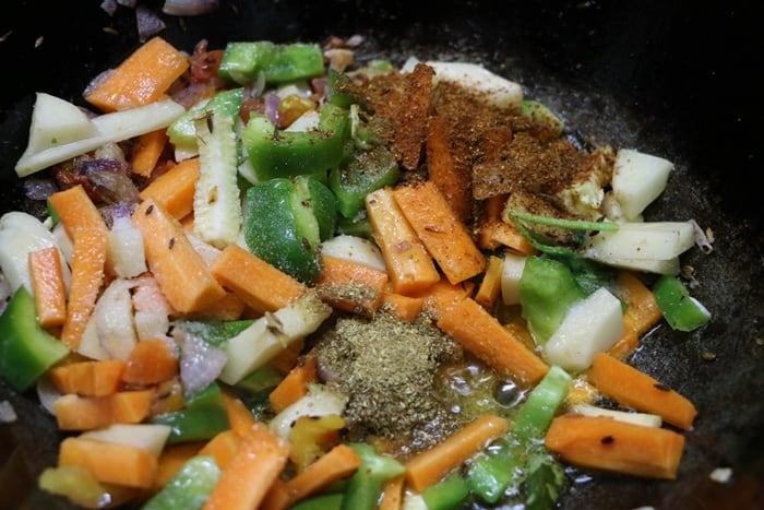 mixed veg curry step 4