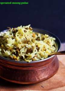 Moong sprouts pulao recipe   Healthy sprouts recipes
