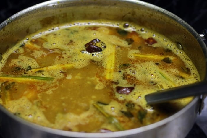 murungakkai sambar step 8