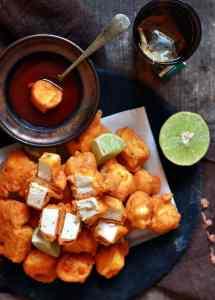 paneer pakora recipe, how to make paneer pakoda