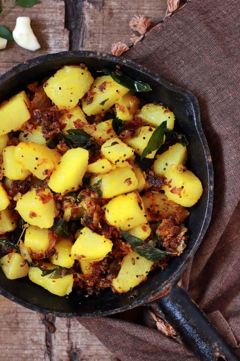 garlic potato fry recipe a