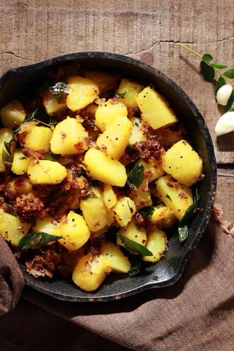 garlic potato fry recipe c
