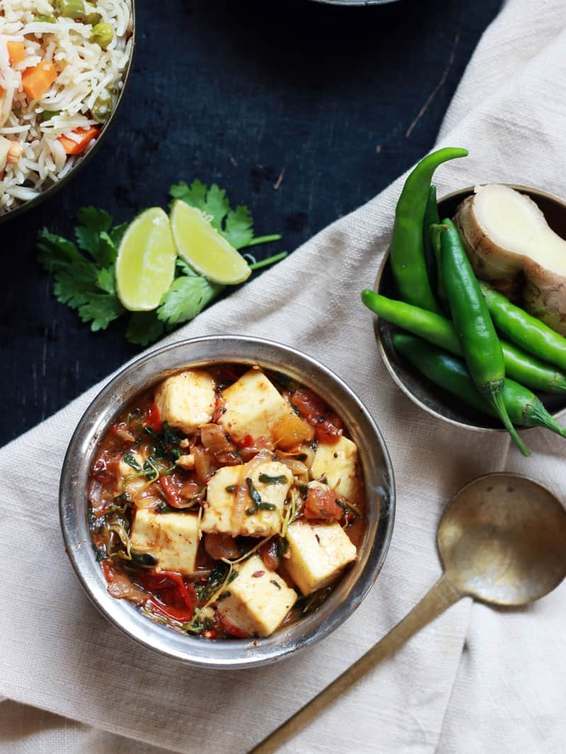 methi paneer recipe d