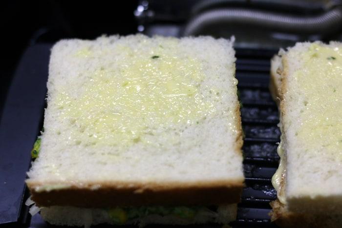 spinach corn sandwich step 8