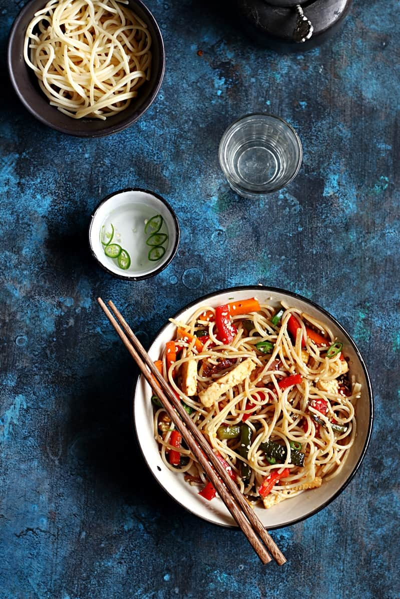 chili garlic noodles recipe