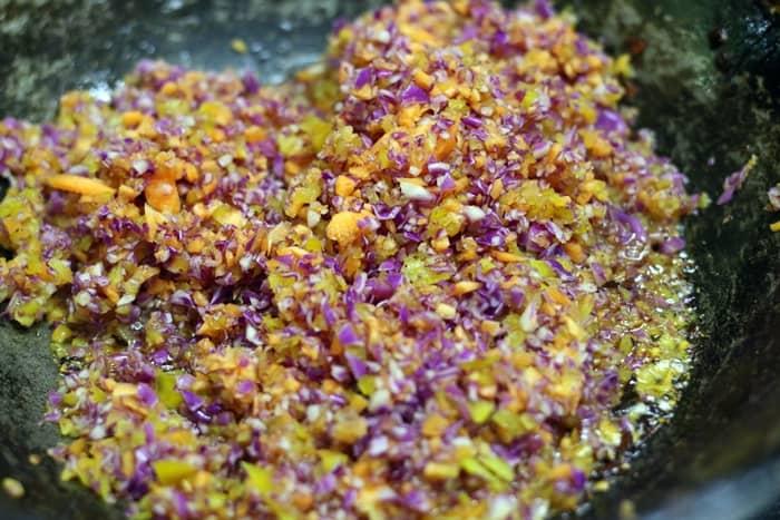 veg rolls step 1