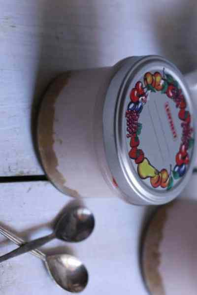 strawberry cheesecake recipe in a jar. No eggs and gelatin recipe