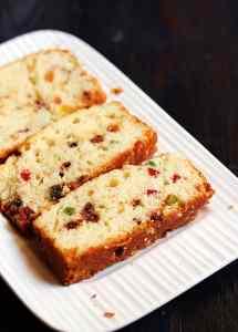 Eggless orange loaf recipe   Orange tutti frutti loaf recipe