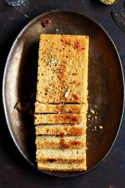 Gulkand cake recipe- eggless and no butter