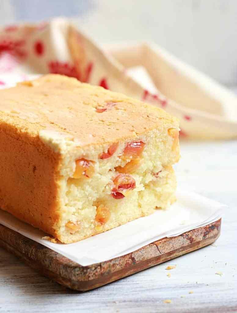 egglesscherry pound cake recipec