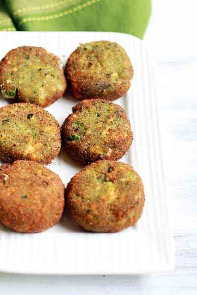 Paneer cutlet recipe with mint | Pudina paneer cutlet recipe