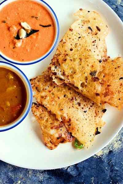 Rava dosa recipe with onions | How to make crispy instant rava dosa recipe