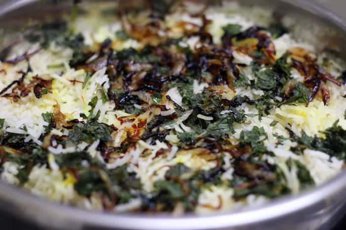 veg dum biryani recipe step 14