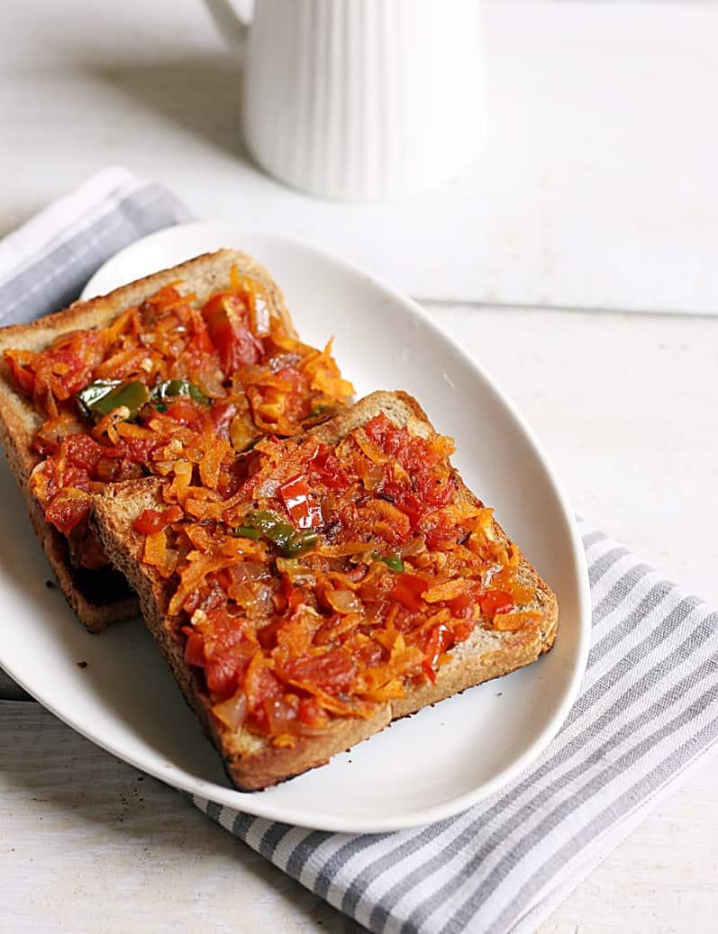 Bakery style masala toast recipe c