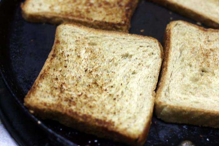 Bakery style masala toast recipe step 4
