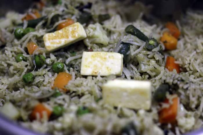 veg biryani restaurant style recipe step 11
