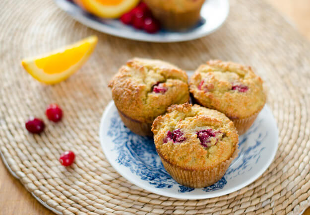 Paleo Cappuccino Muffins with Chocolate and Cranberries