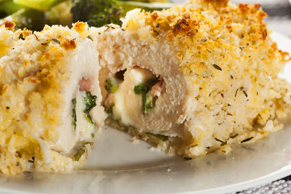 Chicken Cordon Bleu with Mornay Sauce