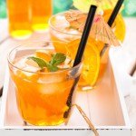 Not just for summer - orange St. Germaine pitcher cocktails