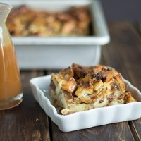 Caramel Raisin Bread Pudding
