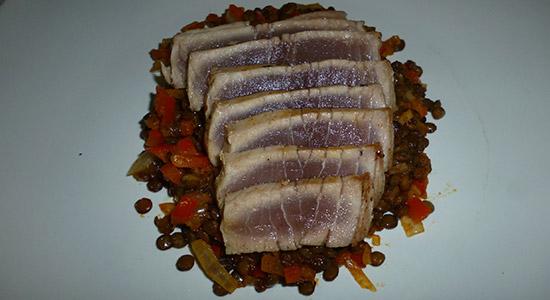 tuna-lentils