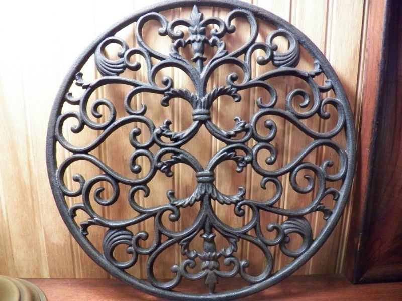 Simple Inch Trivet Pennsylvania Dutch Country Trivet Round Ornate Cast Iron Mary Kitchen What Is A Trivet Set What Is A Trivet Coaster