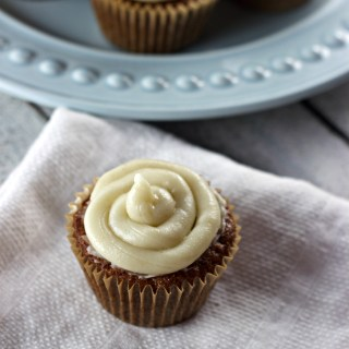 carrot cake cream cheese frosting cupcake