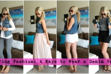 Spring Fashion: 4 Ways to Wear a Denim Vest