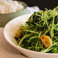 Garlic Pea Sprouts Stir Fry