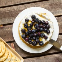 Baked Brie with Honey and Blueberries