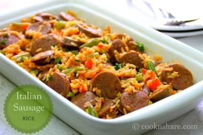 Savory Italian Sausage Rice - Cook n' Share - World Cuisines