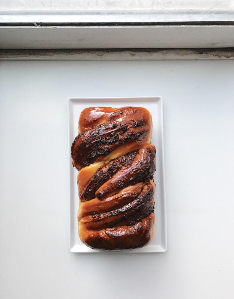 cinnamon raisin twist bread
