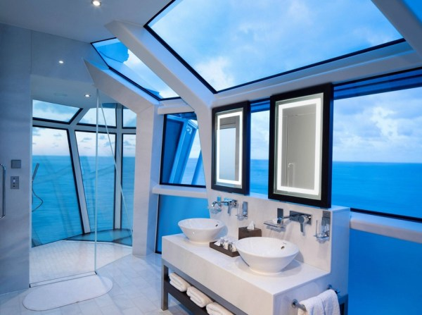 Bathroom above the sea