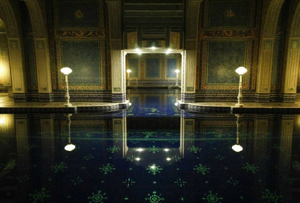 The Hearst Castle Indoor Roman Pool, at Night