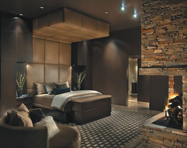 Elegant Bedroom with Fireplace