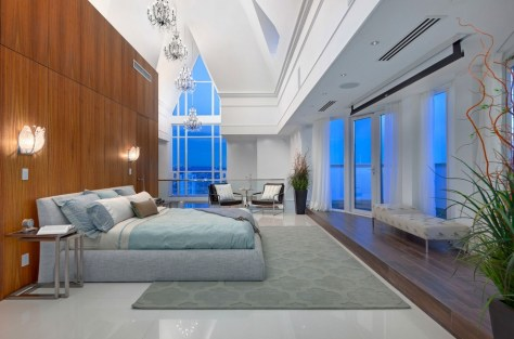 This Vancouver penthouse bedroom seems like a nice place to rest one's head