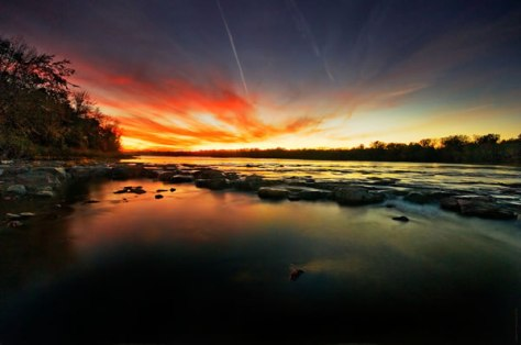 Maumee River Fall Sunset
